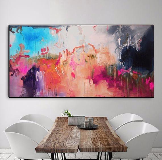 Cuadro moderno decoracion sala comedor oleo lienzo - Cuadros para comedor moderno ...