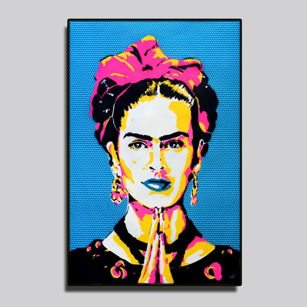 Cuadro moderno decorativo vintage frida kahlo pop art - Cuadros pop art comic ...