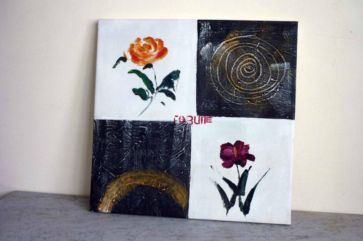 Cuadros de flores en blanco y negro cuadro triptico flor - Cuadro blanco y negro ...