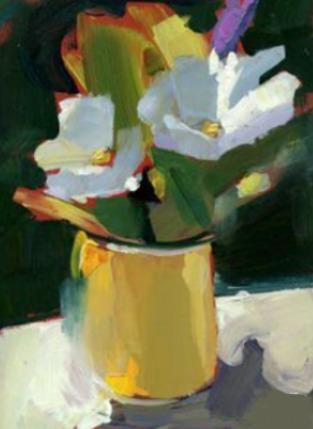 Cuadro Moderno Flores Pintado A Mano 40x60 Oleo Acrilico 2 500