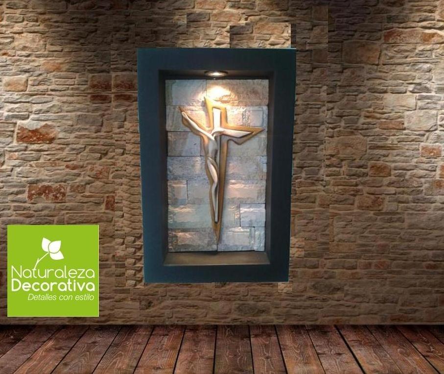 Cuadro moderno lampara de pared cristo dali con luz 1 en mercado libre - Cuadro para pared ...
