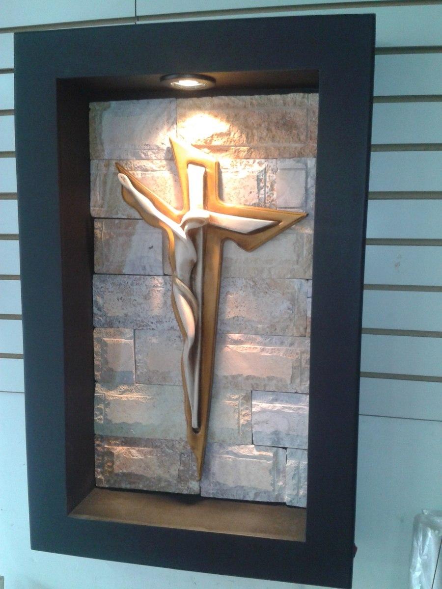 Cuadro moderno lampara de pared cristo dali con luz - Lamparas para cuadros ...