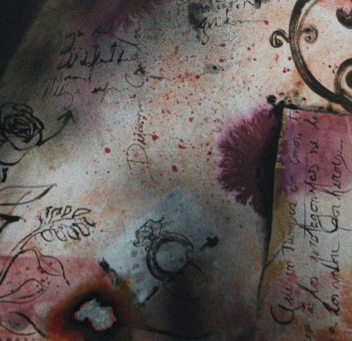 cuadro moderno texturado óleo original artista padilla año16