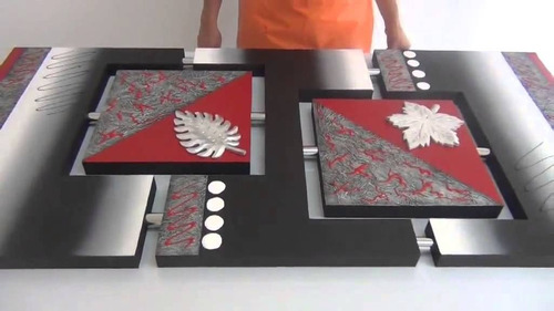 cuadro modernos polipticos unidos con tubos