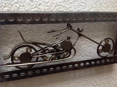 cuadro motocicleta envio gratis hecho de chatarra