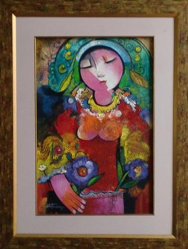 cuadro - mujer - de whitman gualsaqui