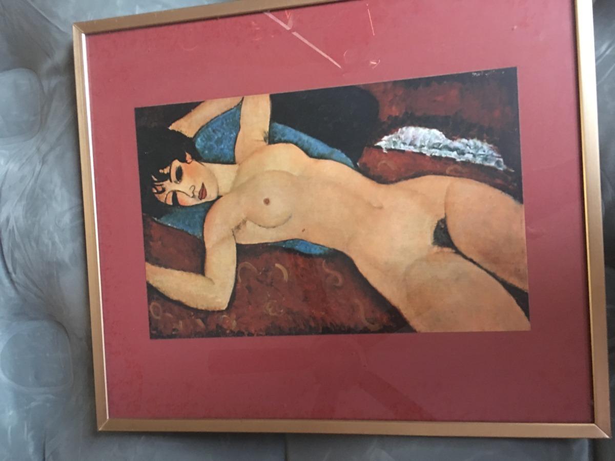 Cuadro Mujer Desnuda En Cama Retro Vintage 79900