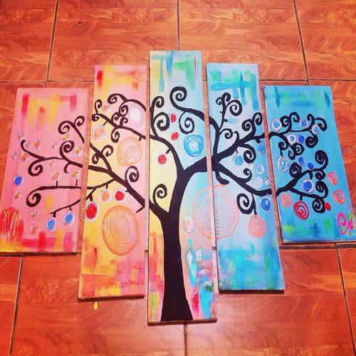 cuadro multi componente árbol color flúorfluor