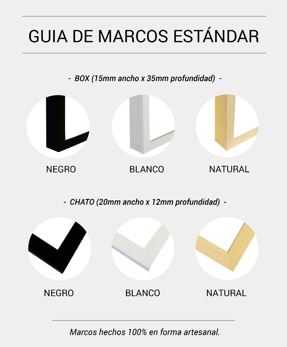 Asombroso Tamaños Estándar Para Marcos De Cuadros Modelo - Ideas ...