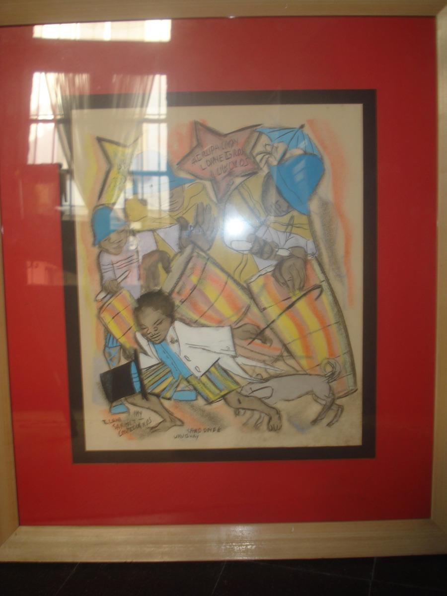 Cuadro obra candombe elena sanchez castellanos con marco - Cuadros con marcos ...