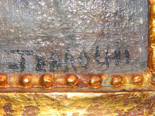 cuadro oleo antiguo marina chileno jose carachi