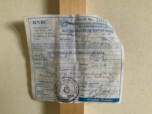 cuadro óleo de cuba certificado