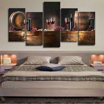 cuadro óleo digital sobre lienzo de la vendimia/ 5pcs