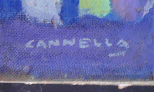 cuadro oleo firmado lanella (c-274)