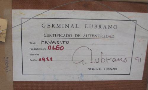 cuadro oleo g. lubrano 40x30cm 132 fundación tzedaká