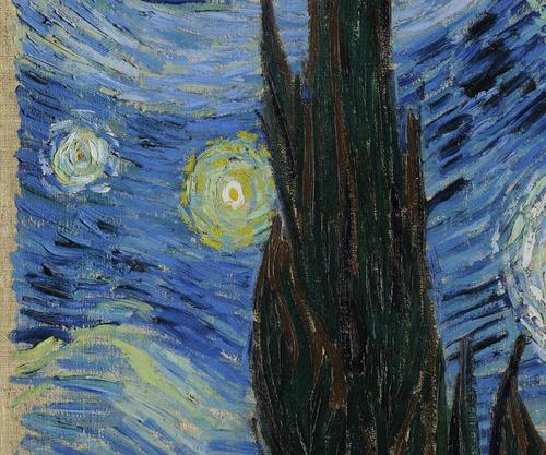 cuadro oleo la noche estrellada vincent van gogh bastidor