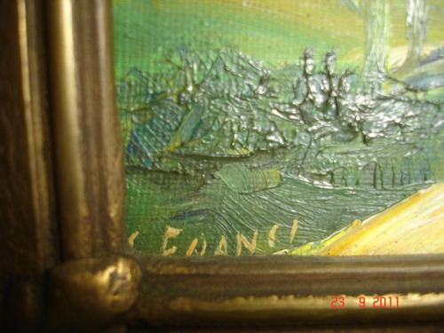 cuadro oleo motivo paisaje norteño firmado marco frances a