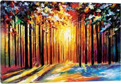 cuadro oleo o acrilico bosques modernos