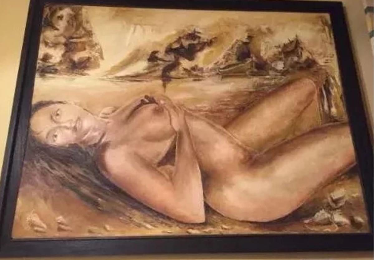 Cuadro Oleo Original Tela Mujer Desnuda Rivera 3223324