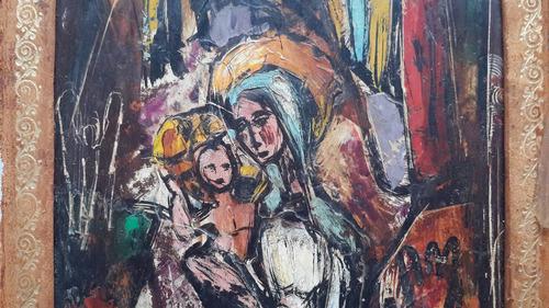 cuadro oleo religioso triptico arq horacio blas berretta