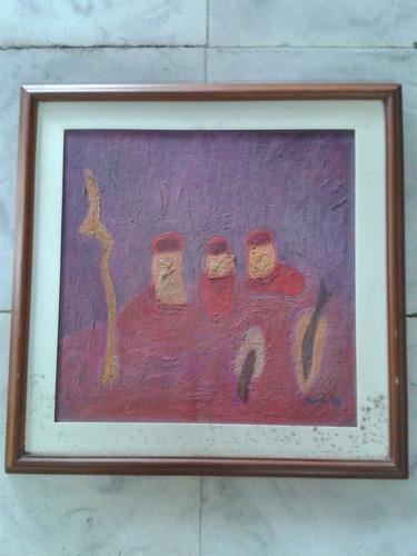 cuadro oleo sobre lienzo firmado delgado 1993
