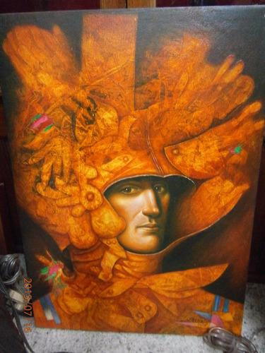 cuadro oleo sobre lienzo  homenaje a villegas   de gallardo