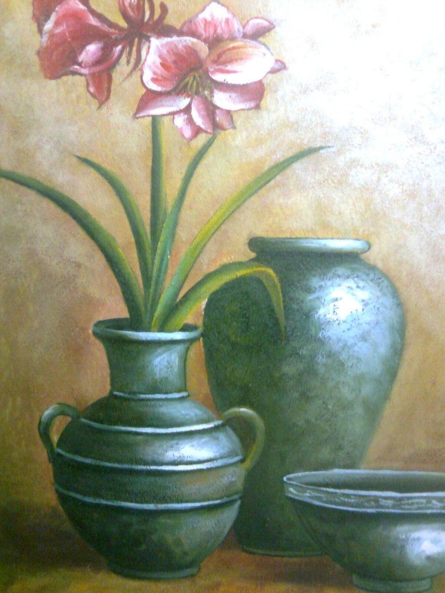 Cuadros De Jarrones Con Flores Al Oleo