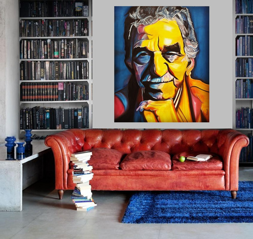 cuadro original gabriel garcia marquez oleo sobre lienzo