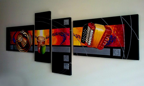 cuadro  original pintura vallenato
