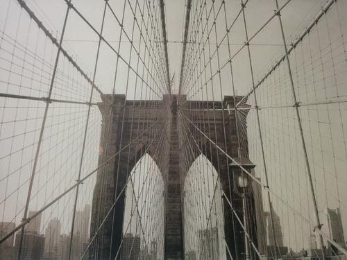 cuadro original puente de brooklyn nueva york gigante