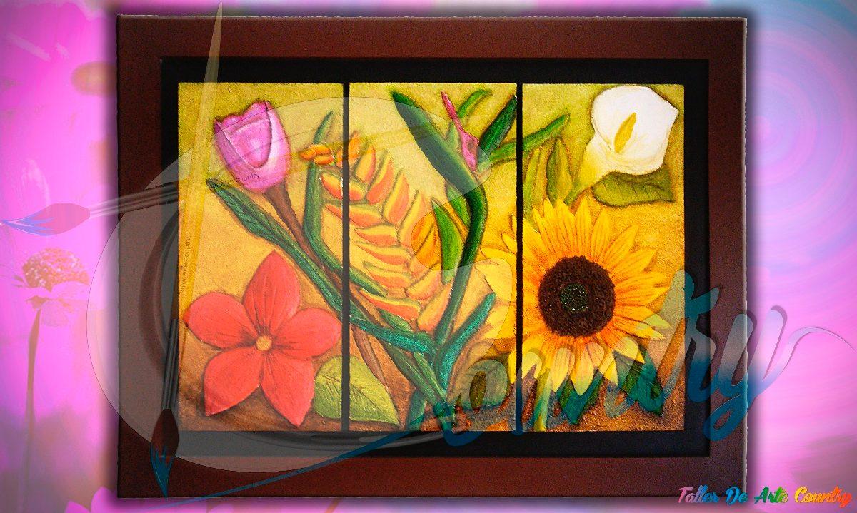 Cuadro paisaje relieve collage muralismo en for Cuadros con relieve modernos