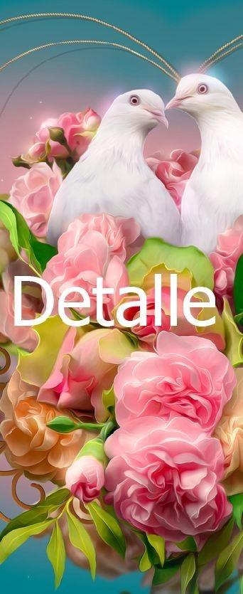 Cuadro Palomas Y Flores Rosas Hermoso Decorativo 835 00 En