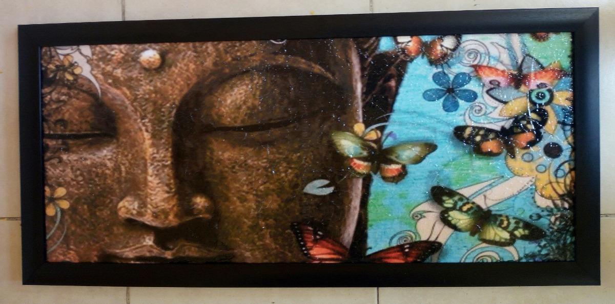 Cuadro Panoramico Buda Marco Plastico Negro - $ 400.00 en Mercado Libre