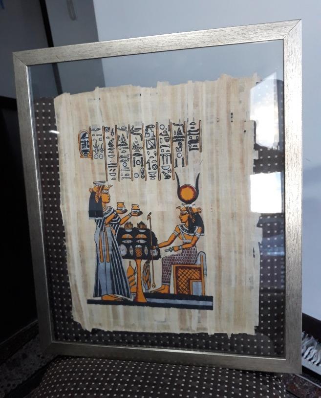 Cuadro Papiro Egipcio - U$S 45,00 en Mercado Libre