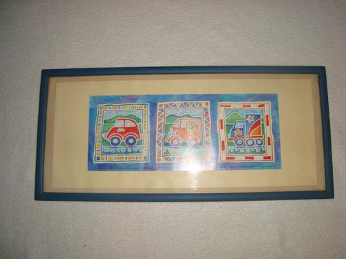 cuadro para el dormitorio del bebe decoracion autos