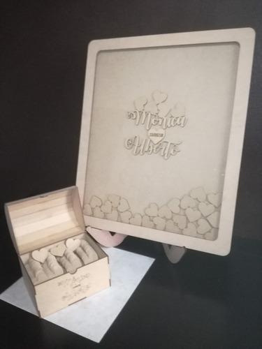 cuadro para firmas para boda