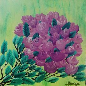 Cuadro Para Mamá En Su Día!! Ramo De Rosas Acrílico 30x40