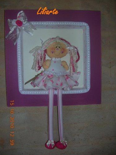 Cuadro para ni as o beb s bailarinas animalitos nenas - Cuadros bailarinas infantiles ...