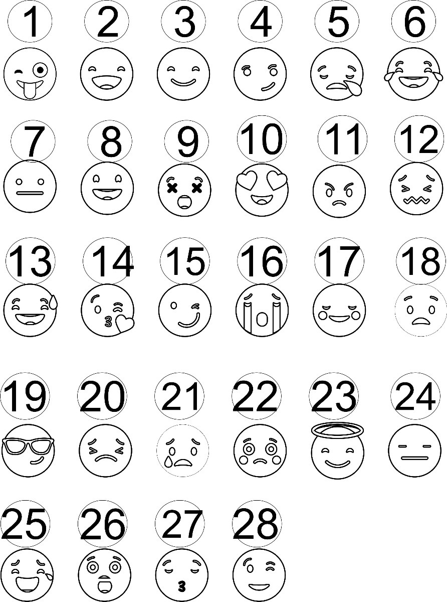 Cuadro Para Pintar Emoji 16x20 Cm
