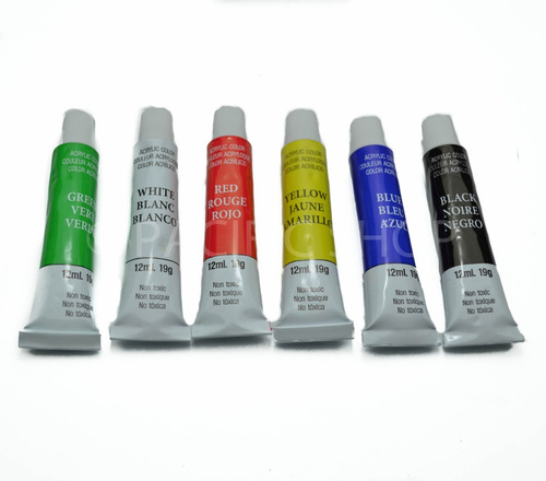 cuadro para pintar en lienzo + 6 tubos de pintura + paleta!!