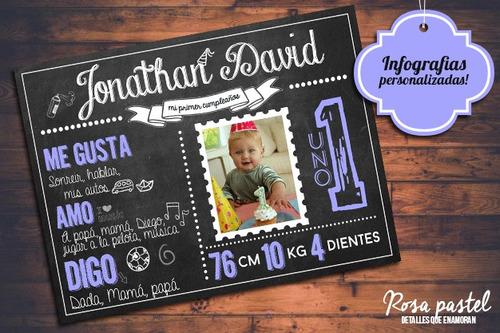 cuadro personalizado 30x40 pizarra candy bar primer año