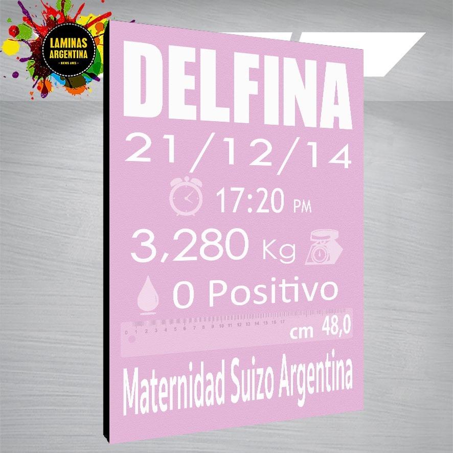 Cuadro Personalizado De Nacimiento Con Todos Los Datos - $ 599,99 en ...
