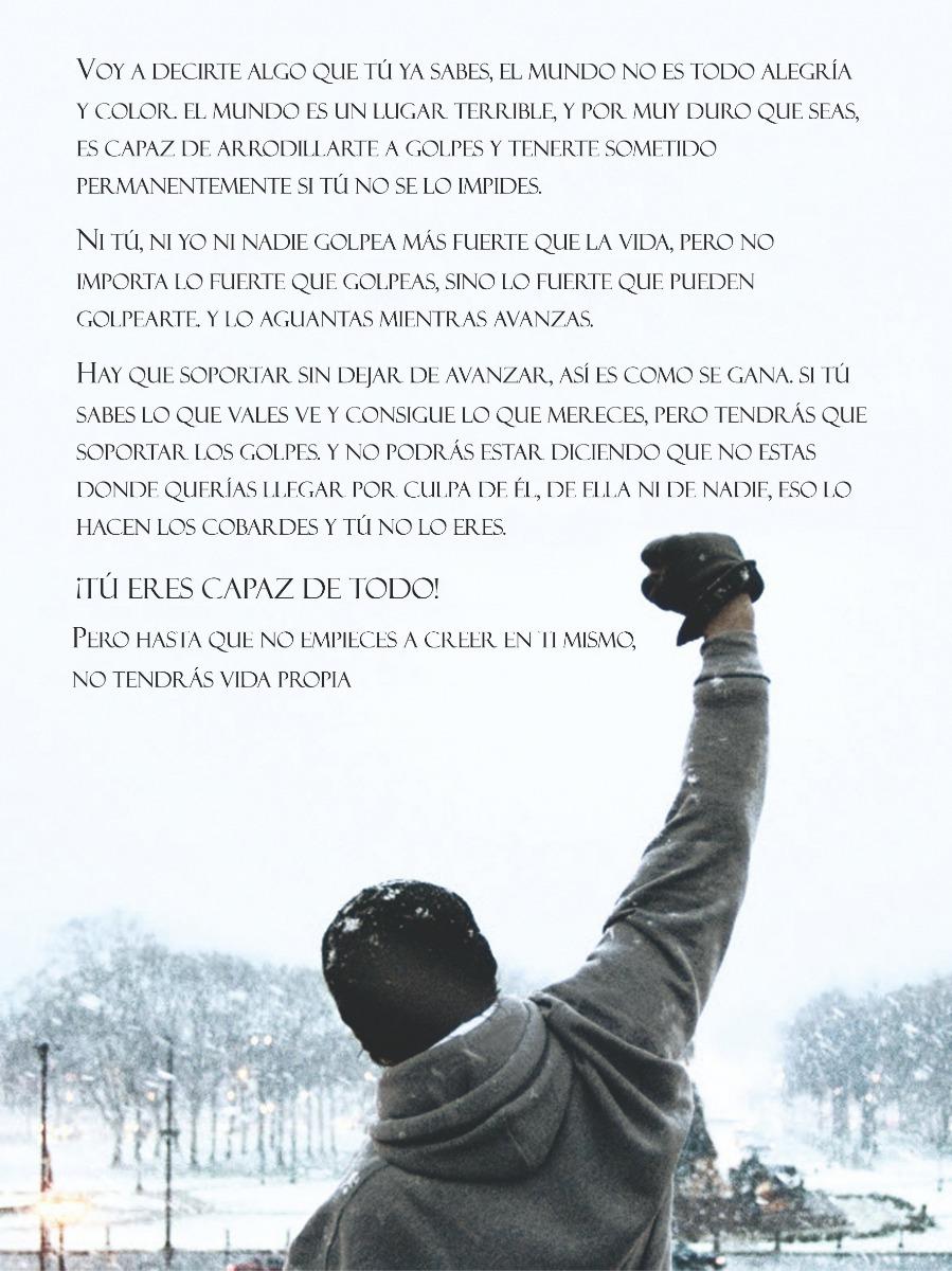 Cuadro Personalizado Rocky Balboa Frases Motivacionales