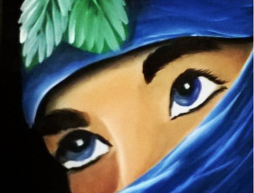 cuadro pintado a mano con acrilicos en mdf unico
