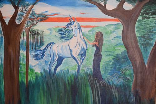 cuadro pintado a pincel