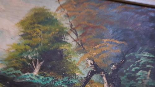cuadro pintado al óleo en muy buen estado y enmarcado!