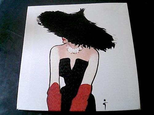 cuadro pintado con acrilicos sobre tela