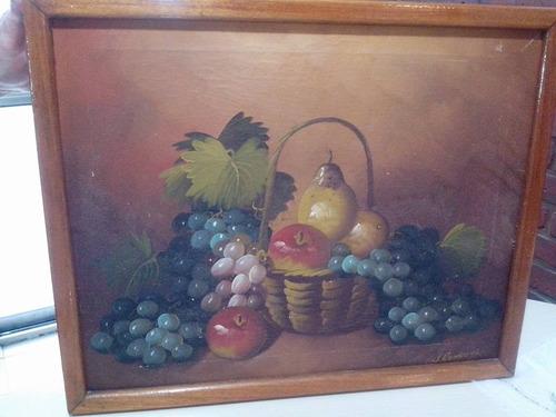 cuadro pintado sobre tela