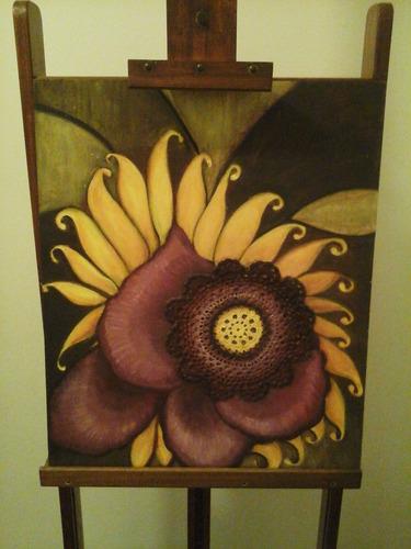 cuadro / pintura al óleo. flor exótica. 50 x 60 cms.