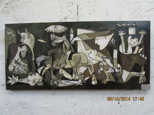 cuadro pintura al oleo guernica